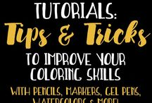 Adult coloring tips and inspo