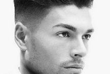 BARBER STYLES / Mainly ideas for mens' barbering cuts but not exclusive of some ideas for women who like an edgy look: fades, flat tops, high and tight, pompadours, mohawks, buzz cuts