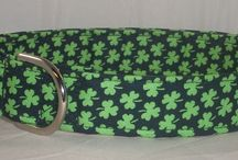 St. Patrick's Day Dog Collars / St. Patrick's Day martingale dog collars or buckle dog collars / by Buddy and Friends