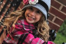 Girls crochet beanie hat with flowers