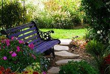 Healing Gardens / Creating healing spaces for stress relief. Gardening.