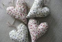 Linen heart  / Decorative heart linen