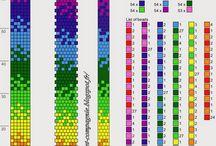 wzory na branzoletki / Robótki z koralików