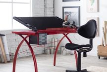 Studio Designs Colorful Desks- Brighten Up Your Workspace / Get a desk that pops and brings color into your work area. #StudioDesigns