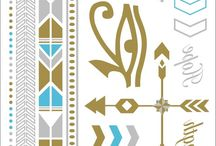 FLASH METALLIC TEMPORARY TATTOOS / #tattoo