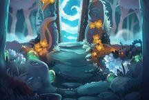 Cartoony forest