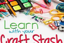 learning with craft supplies