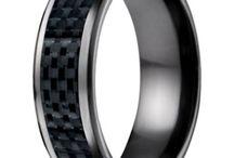 Benchmark Designer Titanium Wedding Rings / by Mens-Wedding-Rings.com