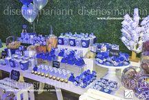 boda azul y plata