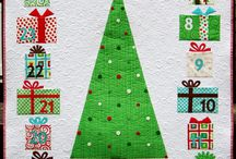 Christmas quilts / Christmas themed quilts to snuggle under