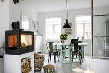 Estufa con paredes clasicas