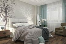 Idei pentru decorat dormitorul / Idei pentru decorarea dormitorului. Amenajari interioare