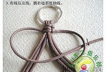Macramé noeuds et porte-clé