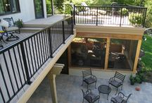 Patio and upper deck
