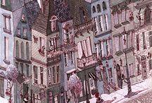 ilustración ciudades