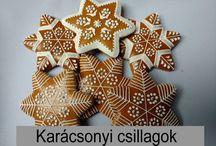 Boszorkányos mézeskalács harangok / Karácsonyi mintával mézeskalács harangok