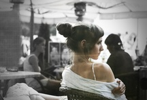 girl in a summer cafe