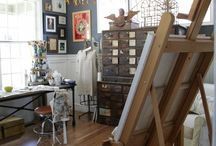 Inspire + Organize / Check out cool studios and work spaces people have created. Go to amesart.org to find local artist.