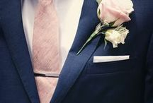 Stylish Grooms / His unique style, buttonholes, ties, waistcoats, colours to smarten and brighten any groom.