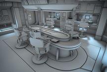 Sci-Fi интерьер
