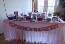 candy table lettering