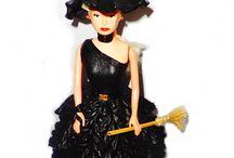 Bonecas com roupinhas de EVA / bruxinha_estilosa_30cm x 12cm