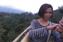 wisata curug Kahuripan Panorama Pabangbon Leuwiliang kab Bogor. Indonesia