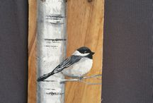 Chickadee Christmas tree
