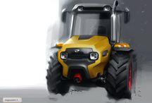 tractor-sketch