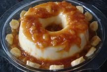 Pudins e tortas cremosas