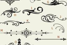 scritte e cornici