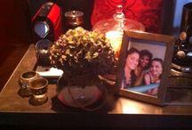 6. belangrijk voor mij in huis / deze spullen zijn belangrijk voor mij in huis. -  koffiemachine voor lekkere koffie -  heel veel smaakjes thee -  een lekkere kussen -  bloemen -  kaarsen -  mijn zus en moeder