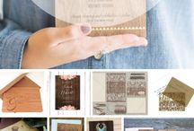 20 Wooden Weeding Invitations