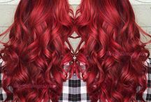 Hair styles in red colors!