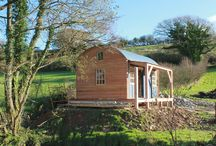 The Modbury / This gorgeous cabin is used as a place to hide from the world, and to cook and spend time with friends. Made from local, sustainable Douglas fir and larch it is insulated with an L shaped veranda, and lined with birch ply.