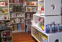 Cubbies / You can arrange them in a variety of configurations and use them for different kinds of merchandise. We love cubbies.