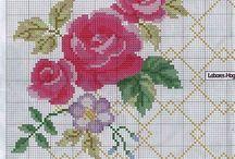Rosas ponto cruz