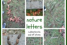 Letters & Words in The Great Outdoors! / Making letters and words outside! www.preschoolreaders.com    Sign-up for our newsletter here to to receive free tips and activities to get your preschooler reading now: http://eepurl.com/VY8Sr