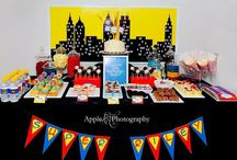 Superhero Party / Snacks, decorations and ideas to create the perfect superhero themed birthday party for your child!