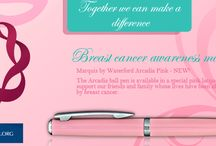 Breast Cancer Awareness Month  / Marquis by Waterford Arcadia Pink - NEW!  The Arcadia ball pen is available in a special pink lacquer to  support our friends and family whose lives have been affected  by breast cancer.