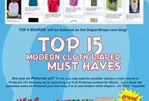 Cloth Diapers - No Pins Required / Top 15 Modern Cloth Diaper Must Haves #clothdiapers @DiaperShops For official rules: http://blog.diapershops.com/no-pins-required-pinterest-contest / by Diaper Shops