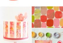 Watercolour cakes