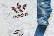 Nike und Adidas sportlook