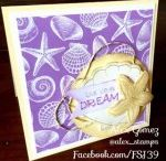 Handmade Cards by Alex / Hand made Greeting card using die cuts, pan pastels, stamps, journey glaze and embellishments from Fun Stampers Journey with Alex Gomez FSJ Coach 39. Find more cards, crafty projects and inspiration at http://www.alexgomezstamps.com