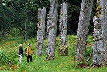 Haida Gwaii, British Columbia, Canada / Scenery, animals, artifacts, people - Haida Gwaii (aka Queen Charlotte Islands
