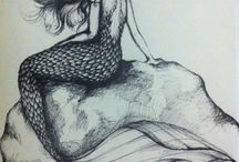 Sketches mermaids & sirens