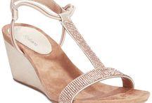 Rose gold handbag/ shoes