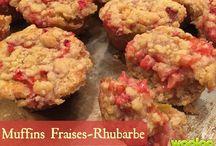 muffin ( rhubarbe )