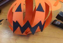 Halloween / Pompoenen van papier
