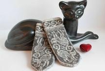 Sticka vantar- knitting mittens